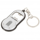 Mini Bottle Opener Keychain with White LED Light (3 x AG10)