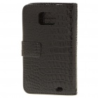 Protective Leather Cover Plastic Case for Samsung i9100 Galaxy S II - Black