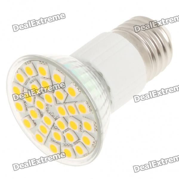 E27 5.5W 360-Lumen 3500K 30x5050 SMD LED Warm White Light Lamp Bulb (AC 85~265V) e27 2w 100 lumen 3000k 30x3528 smd led warm white light lamp bulb 110v