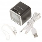 "1.4"" LCD Mini USB Rechargeable MP3 Player Speaker w/ Alarm Clock/FM/TF"