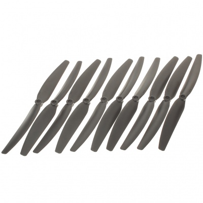Nylon 10 x 6E Propellers for Quadkopter - Black (5-Pair)