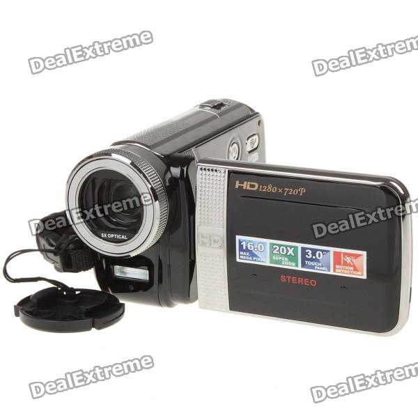 "5.0MP CMOS 720P Digital Video Camcorder w/ 4X Digital Zoom/HDMI/TV/SD (3.0"" Touch Screen)"