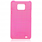 Mesh Protective PC Plastic Back Case for Samsung Galaxy S II i9100 - Rose Red