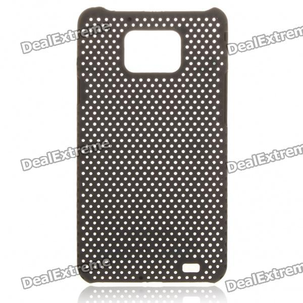 Mesh Protective PC Plastic Back Case for Samsung Galaxy S II i9100 - Black
