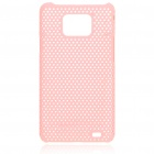 Mesh Protective PC Plastic Back Case for Samsung Galaxy S II i9100 - Pink