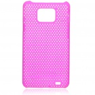 Mesh Protective PC Plastic Back Case for Samsung Galaxy S II i9100 - Purple