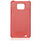 Mesh Protective PC Plastic Back Case for Samsung Galaxy S II i9100 - Red
