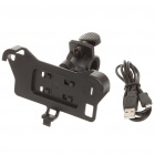 Plastic Bicycle Swivel Mount Holder & USB Data/Charging Cable for HTC Sensation/Pyramid/G14/Z710E