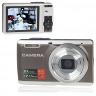 2.7&quot; TFT 5MP CMOS Compact Digital Camera Camcorder w/ 8X Digital Zoom/AV-Out/SD Slot