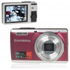 "2.7"" TFT 5MP CMOS Compact Digital Camera Camcorder w/ 8X Digital Zoom/AV-Out/SD Slot"