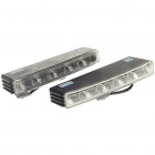 2W 6000K 150LM 10x5050 SMD LED 2-Mode White Light Daytime Running Lamps for Car (Pair/DC 12V)