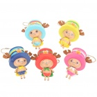 Chopper PVC Anime Figures Keychain (5-Piece Pack)
