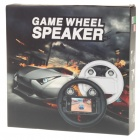 Rechargeable Game Steering Wheel with Speaker for Iphone 4 - Black