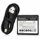 Replacement 3.7V 1600mAh Battery + USB Charging/Data Cable for HTC Desire HD/Inspire 4G