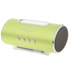 "2.0"" LED Mini Portable USB Rechargeable MP3 Player Speaker w/ FM/Line In/USB/TF Slot - Green"