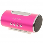 "2.0"" LED Mini Portable USB Rechargeable MP3 Player Speaker w/ FM/Line In/USB/TF Slot - Rose Red"