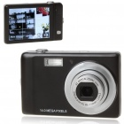 "3.0"" Touch Screen 5.0MP Sony CCD Digital Camera w/ 4X Digital Zoom/AV-Out/SD Slot - Black"