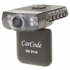 "720P Wide Angle Car DVR Camcorder w/ 8X Digital Zoom/Night Vision/TF/HDMI/AV-Out (2.0"" TFT)"