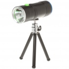 Portable Rechargeable Dual Lens 3W LED White + Blue Light Fish Attractor Flashlight w/ Tripod