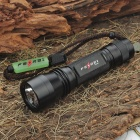 FEREI P408N CREE Q5 3-Mode 225-Lumen Memory White LED Flashlight w/ Strap (1 x 18650 / 2 x CR123A)