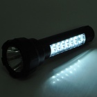 2-in-1 Outdoor Rechargeable 1.5W 1-LED White Flashlight + 16-LED White Light Side Plate Torch