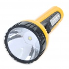 2-in-1 Outdoor Rechargeable 1.0W 1-LED White Flashlight + 4-LED White Light Side Plate Torch