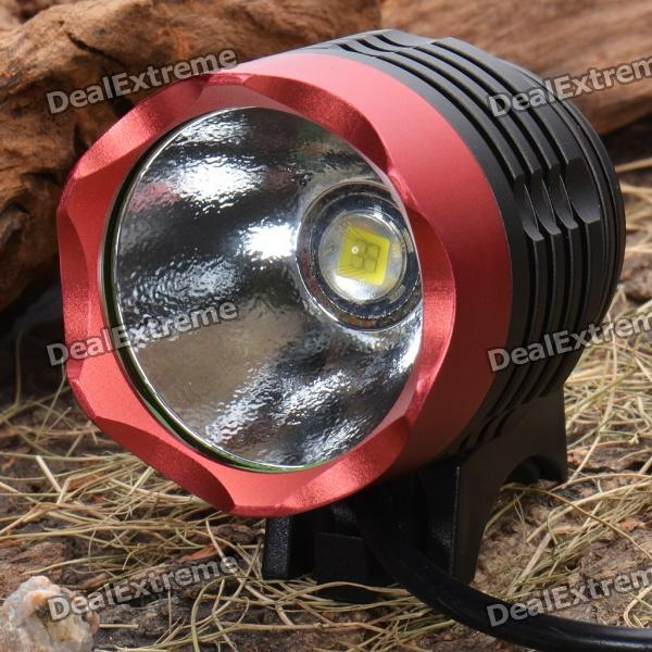 P7 Water Resistant SSC-P7 4-Mode 900~1200-Lumen White LED Bike Light with Battery Pack Set