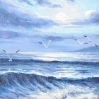 Hand Painted Seascape Oil Painting
