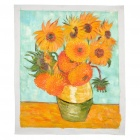Hand Painted Sunflowers Oil Painting