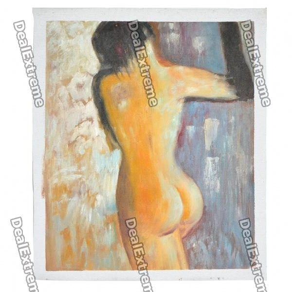 Hand Painted Nude Back Oil Painting