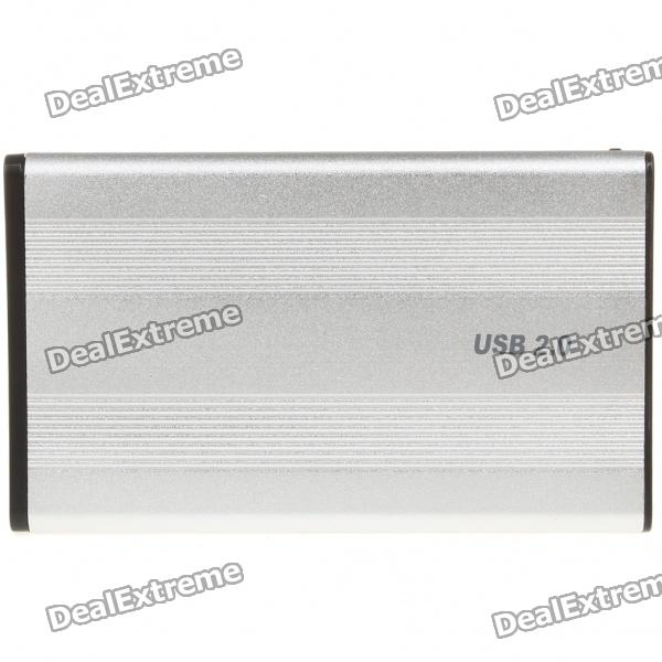 USB 2.0 2.5 IDE HDD Enclosure 2 5 sata usb 3 0 hdd enclosure with pouch black silver super speed 5gbps
