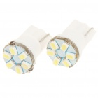 T10 0.28W 80LM 9000K 6x3020 LED White Light Bulbs for Car License Plate/Dashboard/Reading (Pair)