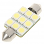 SV85 0.84W 145LM 11000K 9x5050 LED White Light Bulb for Car License Plate/Dome/Door