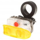 AKSLEN 2-LED 2-Mode White/Warm White Bicycle Safety Light w/ Mount Holder (2 x AAA)