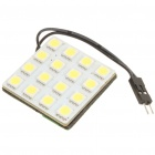 T10 1W 6500K 16-SMD LED White Light Bulb for Car Dome/Reading