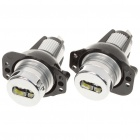6W 8000K 220-Lumen 2-LED White Angel Eyes Projector Headlights Lamps for BMW E90/E91 (Pair/8~30V)