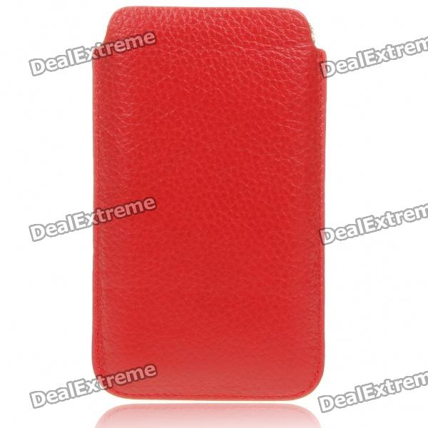 Protective Genuine Leather Case for Samsung i9100 - Red чехол накладка 620023 iphone 6 plus lims sgp spigen стиль 4