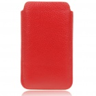 Protective Genuine Leather Case for Samsung i9100 - Red