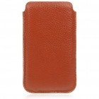 Protective Genuine Leather Case for Samsung i9100 - Brown