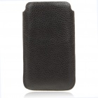 Protective Genuine Leather Case for Samsung i9100 - Black