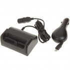 USB Charging Dock Cradle + Car Charger Set for Samsung i9100 Galaxy S II (DC 12~24V)