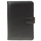 Protective PU Leather Case for Samsung P1000 - Black