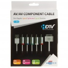 AV Component Cable w/ USB Port for Apple (160cm-Cable)
