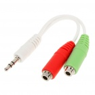 3.5mm Audio Jack Splitter Y-Cable for iPhone 3GS/4/iPad 1/2 - White