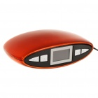 "1"" LED Rechargeable MP3 Player Stereo Speakers w/ FM/AUX/USB/TF Slot - Orange + Black"