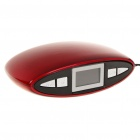 "1"" LED Rechargeable MP3 Player Stereo Speakers w/ FM/AUX/USB/TF Slot - Red + Black"