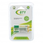 "BTY Rechargeable 1.2V ""1350mAh"" AAA Ni-MH Batteries (Pair)"