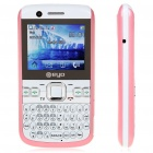 "2.0"" LCD Dual Camera Quad SIM Quad Network Standby Quadband GSM TV Cell Phone - White + Pink"