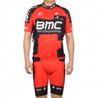 BMC Team Short Sleeves Bicycle Cycling Riding Suit Jersey + Bib Shorts Set (Size XXXL)