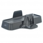 3-in-1 Cooling Fans with Console + Controller Stand for Xbox360 Slim - Black